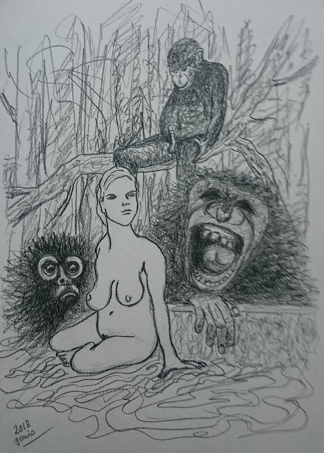 Desire And Laughter In Nature Drawing