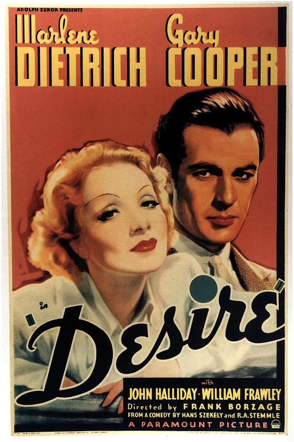 desire, With Marlene Dietrich And Gary Cooper, 1936 Mixed Media