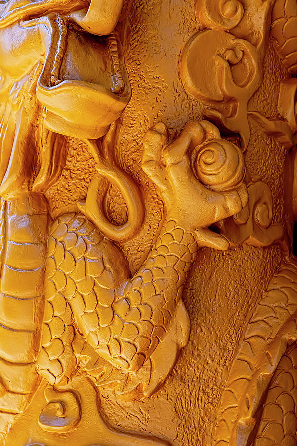 Detail Of Column Chinatown Nyc Photograph