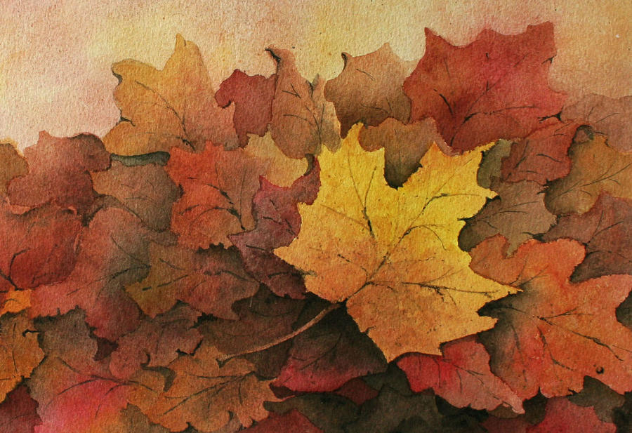 Detail of Fall Leaves  by Lael Rutherford