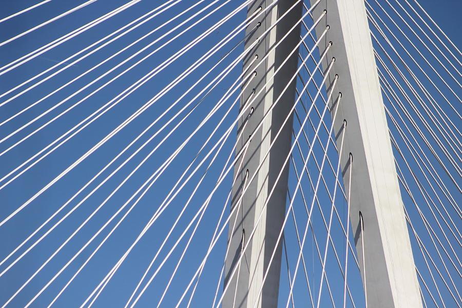 Bridge Photograph - Detail, Stan Musial Veterans Memorial Bridge by Callen Harty
