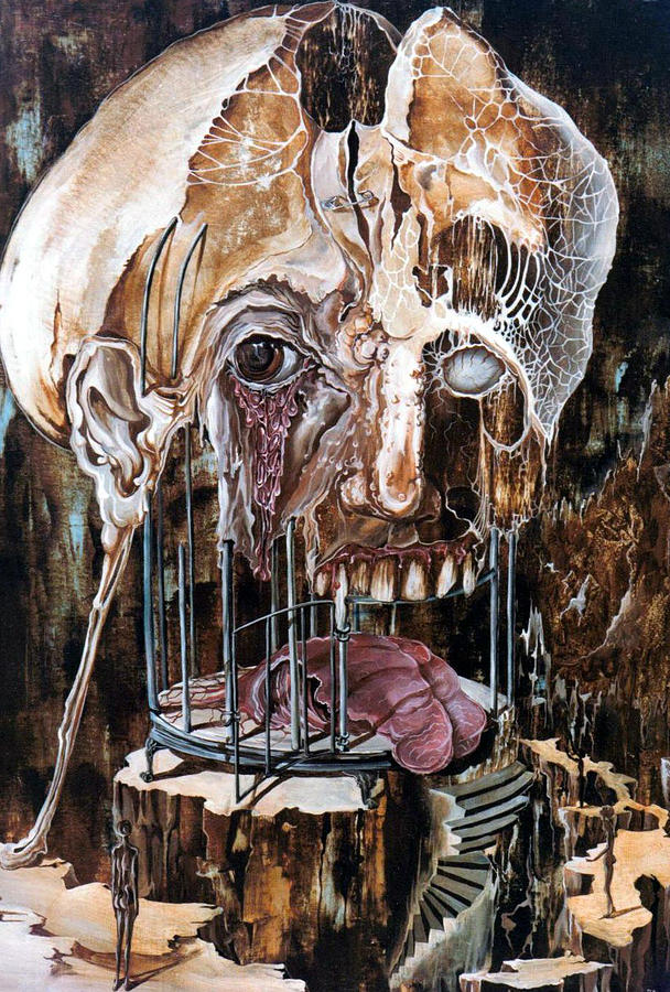 Surrealism Painting - Deterioration Of Mind Over Matter by Otto Rapp