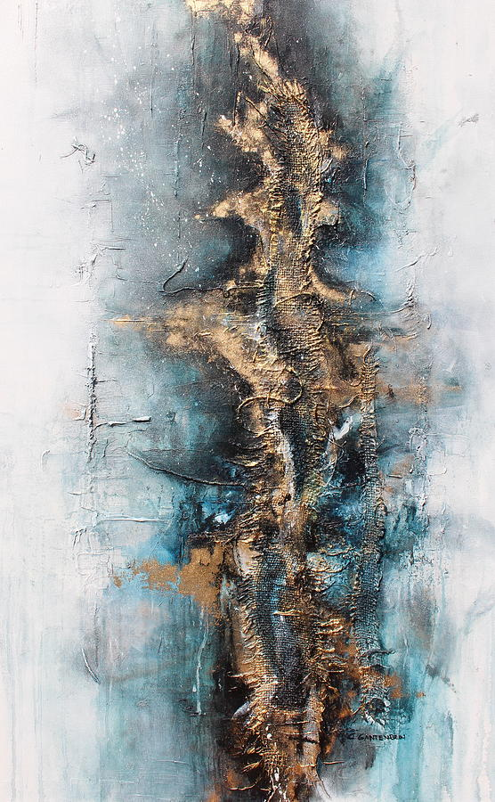 Abstract Mixed Media - Determine by Claudia Gantenbein