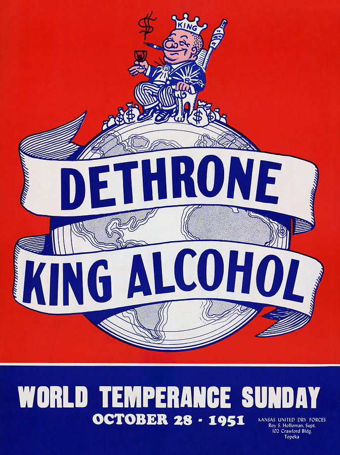 Dethrone King Alcohol - World Temperance Sunday - 1951 by War Is Hell Store