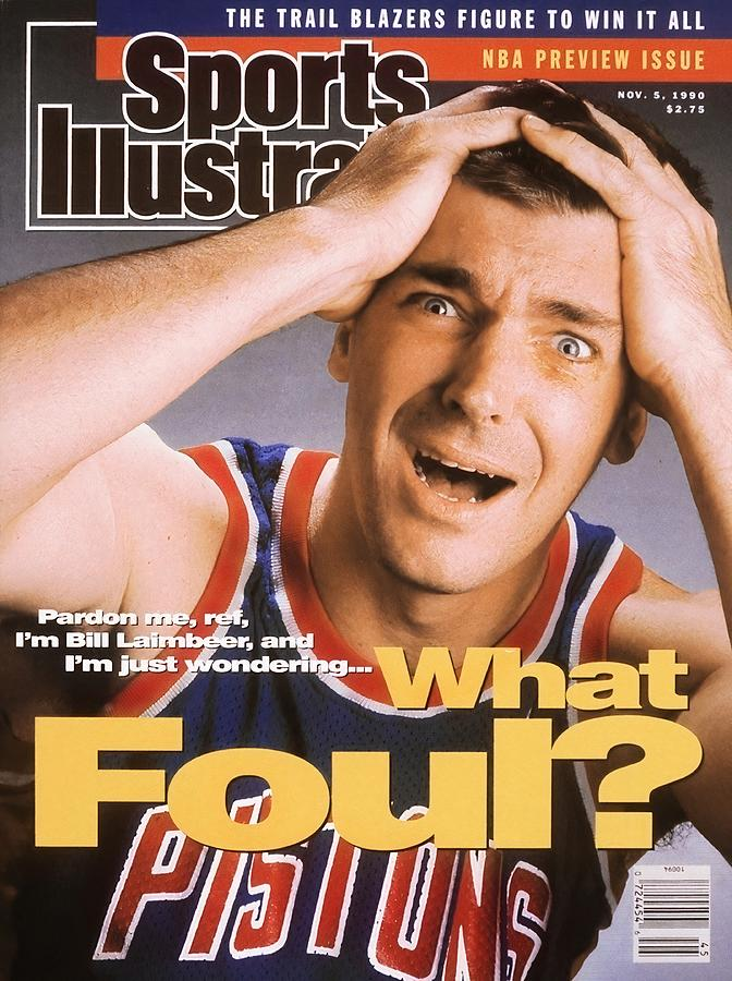Detroit Pistons Bill Laimbeer Sports Illustrated Cover Photograph by Sports Illustrated