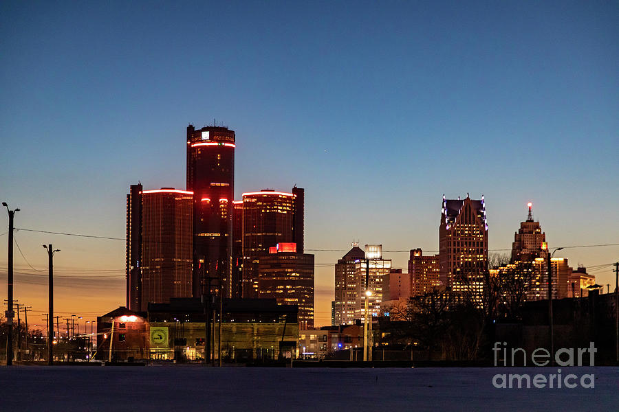 Detroit Skyline Photograph