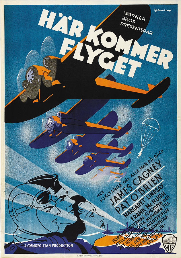 devil Dogs Of The Air, With James Cagney, 1935 Mixed Media