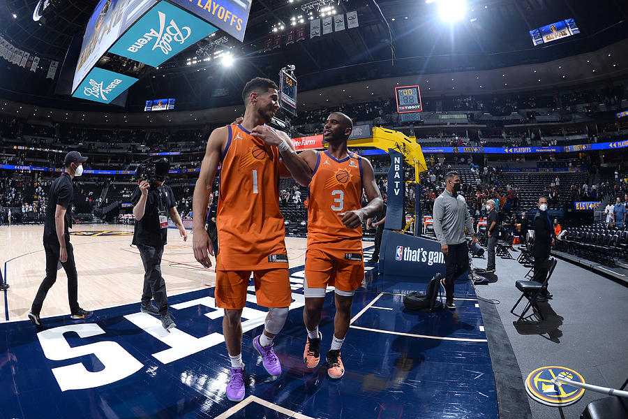 Devin Booker and Chris Paul Photograph by Bart Young