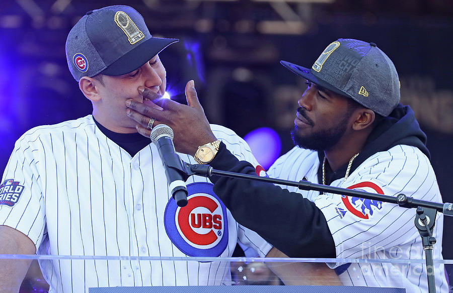 Dexter Fowler and Anthony Rizzo Photograph by Jonathan Daniel