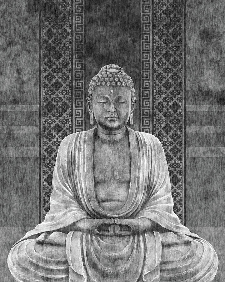 Dhyana - Buddha In Meditation 03 Mixed Media