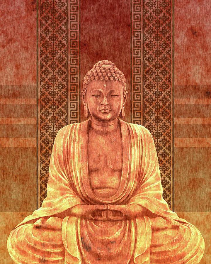 Dhyana - Buddha In Meditation 04 Mixed Media
