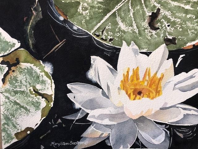Lakes Painting - Diamond In The Rough by Mary Ellen Gerster