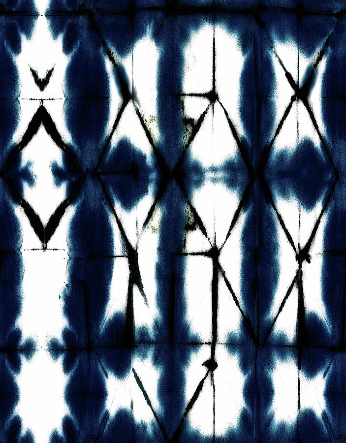 Diamond Shibori Pattern Seamless Repeat Digital Art
