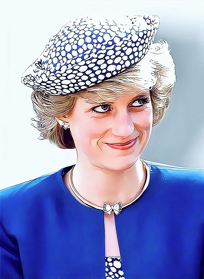 Lady Di Painting - Diana, Princess of Wales, Portrait by Vincent
