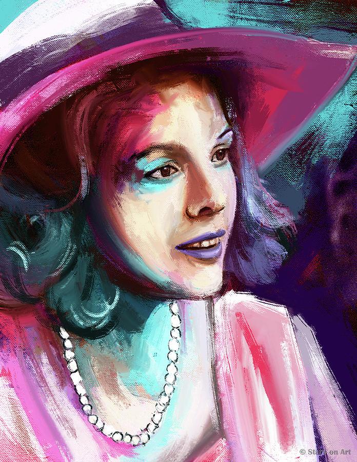 Diane Keaton Painting Painting