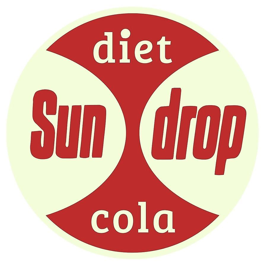 Diet Sun Drop Citrus Soda Vintage Logo Golden Girl Cola Soda Pop Soft Drink Advertising Sign