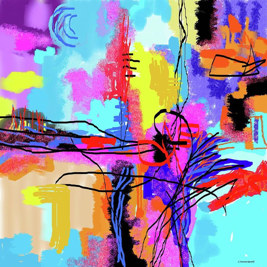 Digital Abstract 3 by Everett Spruill