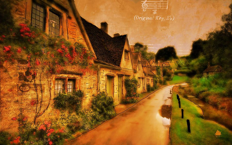 Digitally Created Image Of A French Village. Digital Art