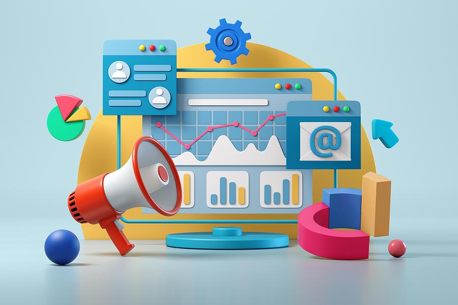 Digital marketing Photograph by AlexSecret