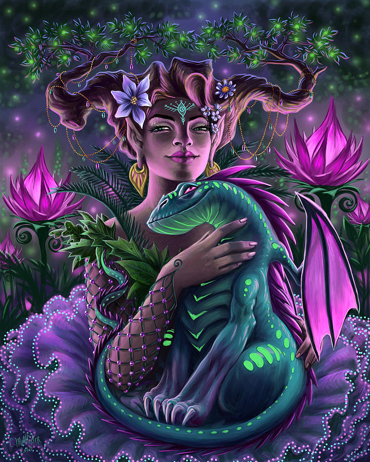 Fairy Painting - The Glowing Garden by Cristina McAllister