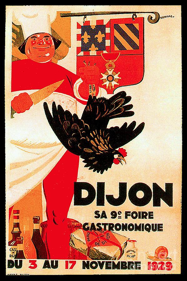 Dijon Restaurant Advertisement Poster Painting