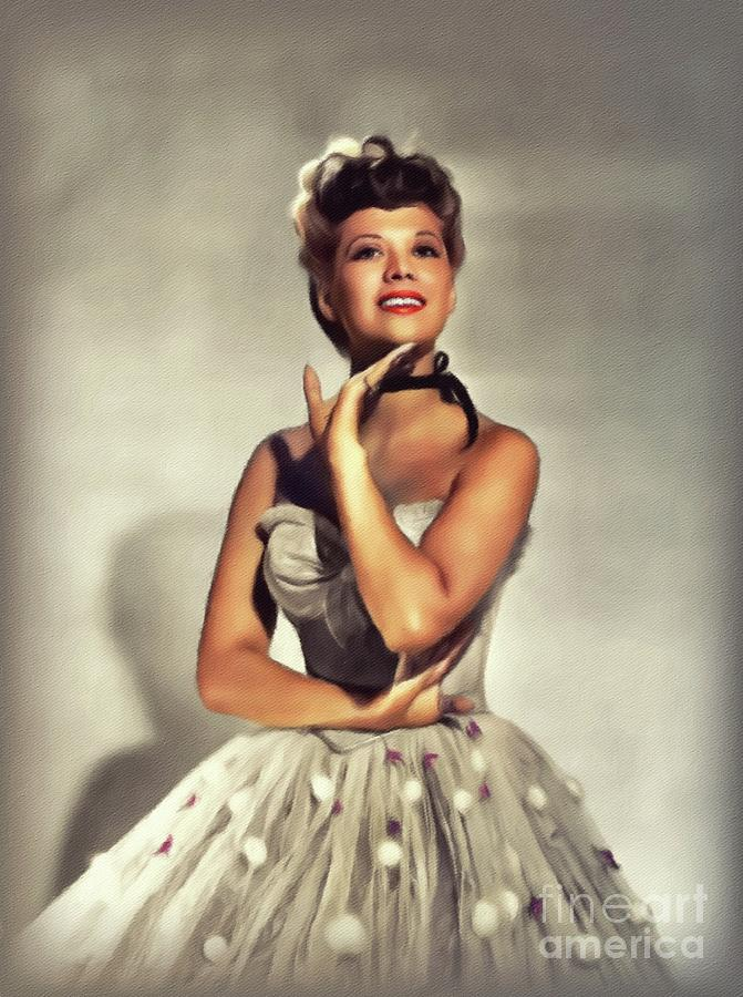 Dinah Shore, Vintage Actress Painting