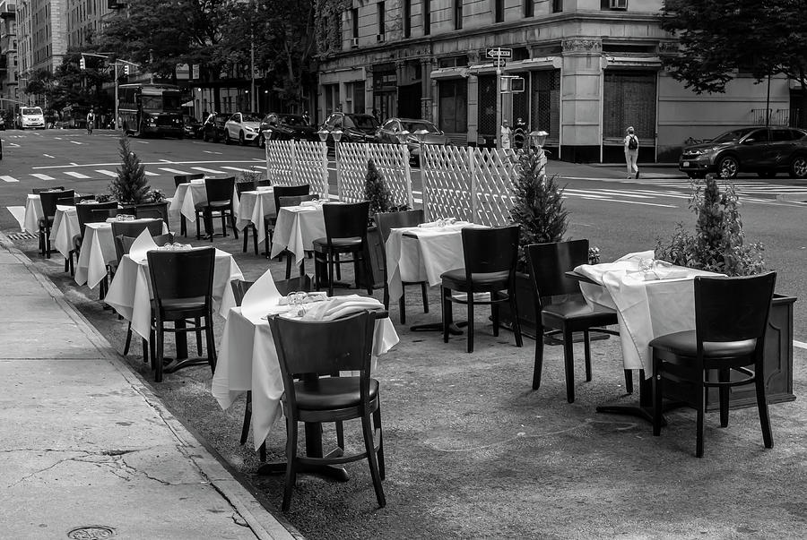 Dining Out - Covid 19 Stage 2 Re-opening Nyc Photograph