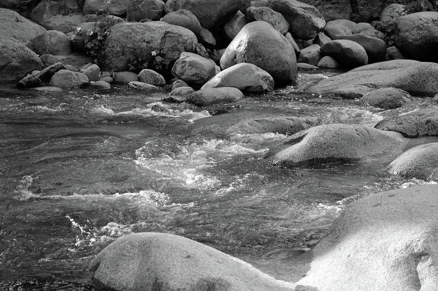 Dinkey Creek Currents In Monochrome Photograph