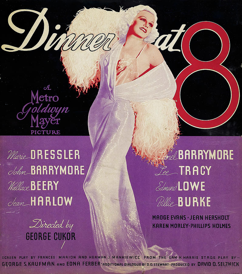 dinner At Eight, With Jean Harlow, 1933 Mixed Media