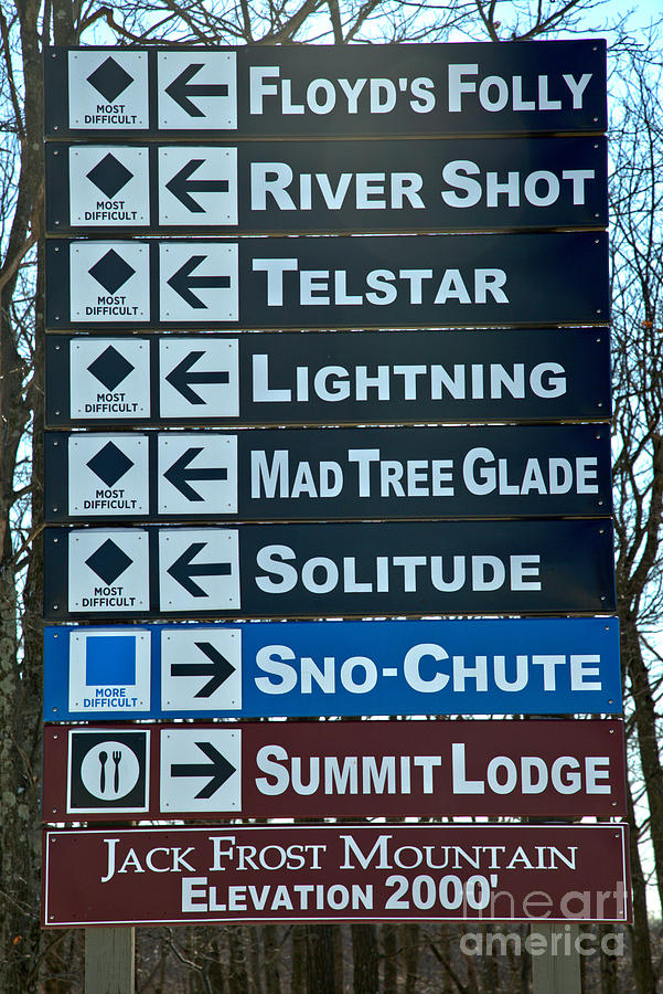 Directions At Jack Frost Ski Resort by Adam Jewell