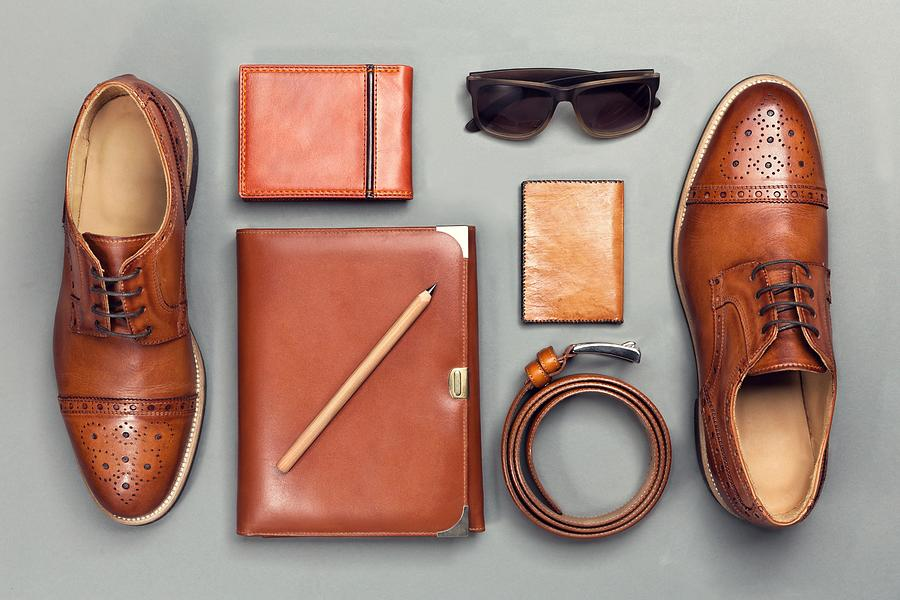 Directly Above Shot Of Personal Accessories On Gray Background Photograph by Marko Kujavic / EyeEm
