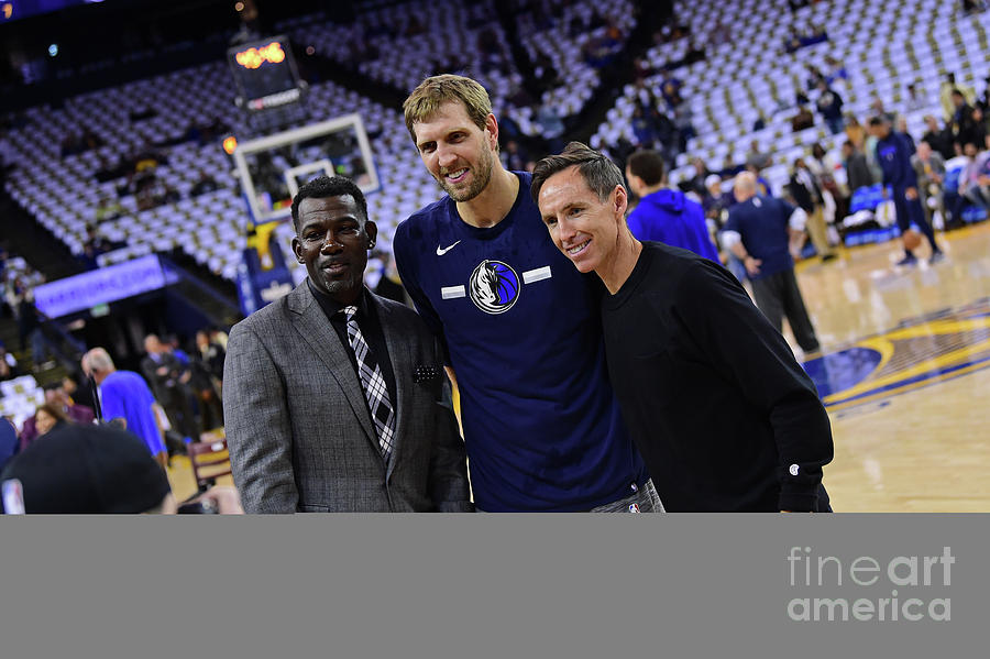 Dirk Nowitzki, Steve Nash, and Michael Finley Photograph by Noah Graham