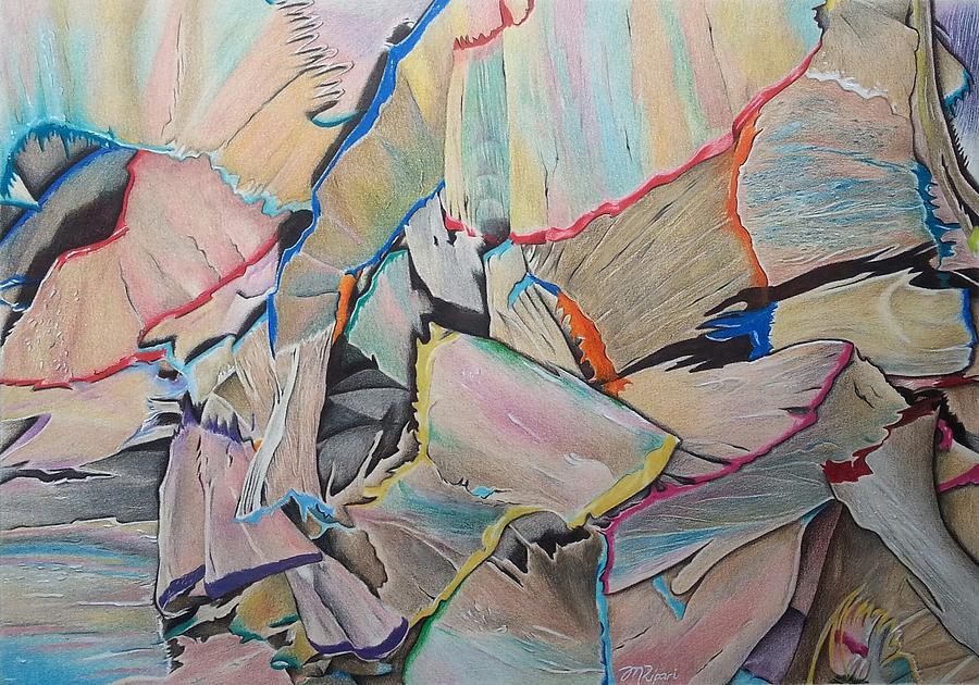 Coloured Pencil Drawing - Discarded Treasure by Michelle Ripari