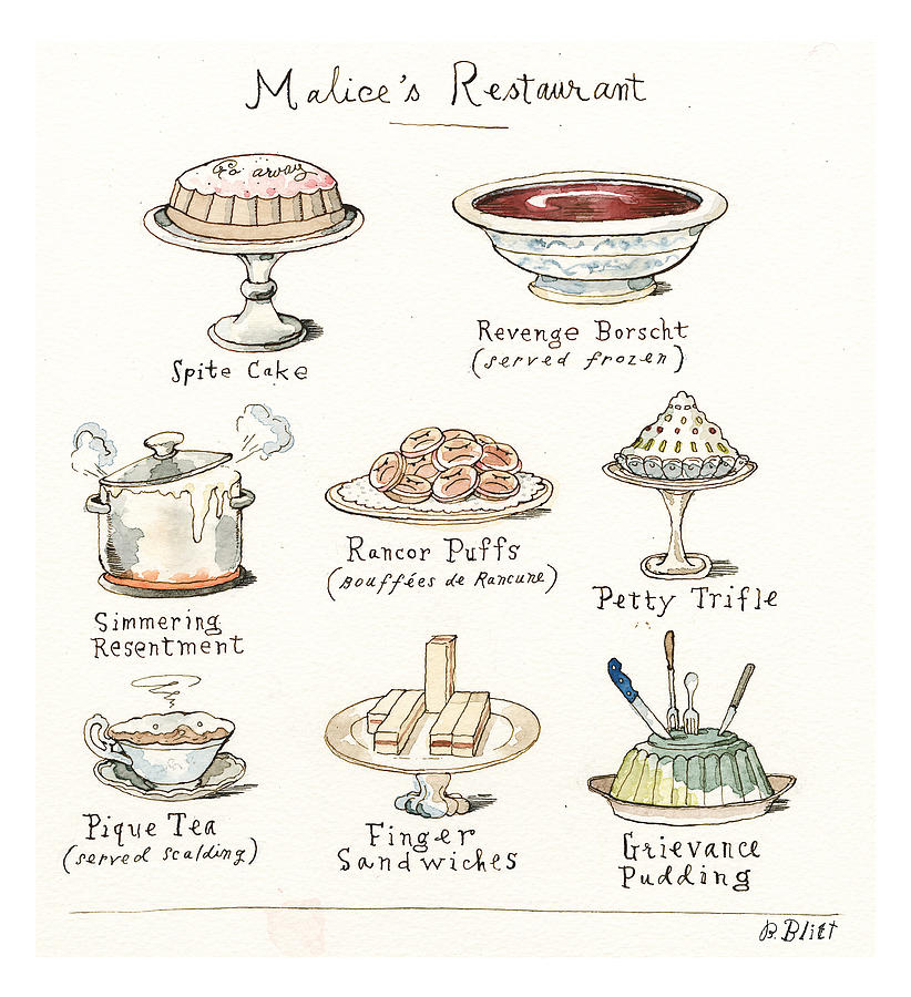 Discomfort Foods Painting by Barry Blitt