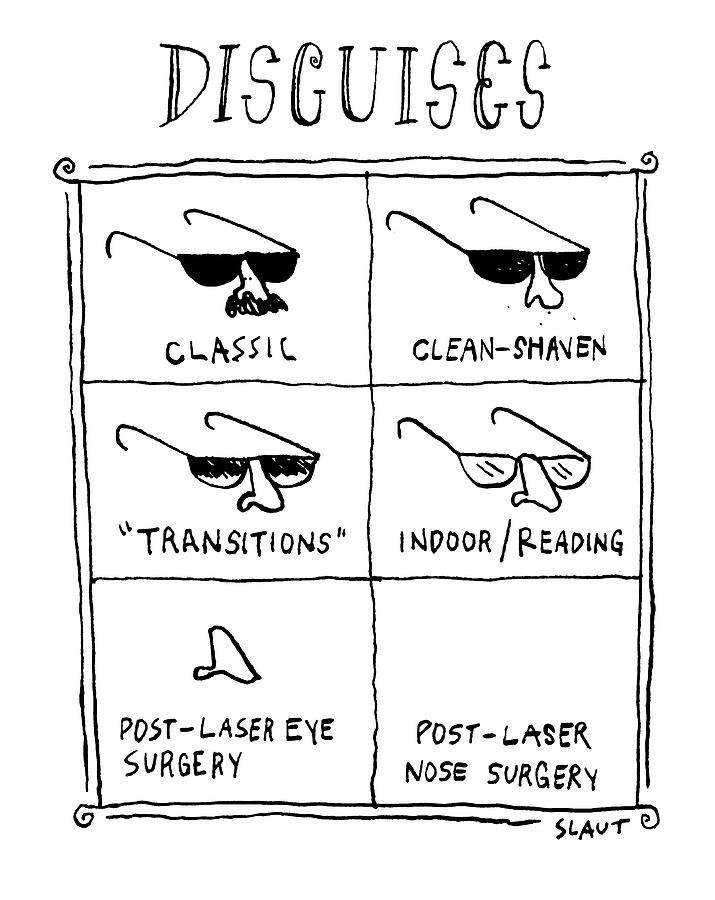 Disguises Drawing by Sara Lautman