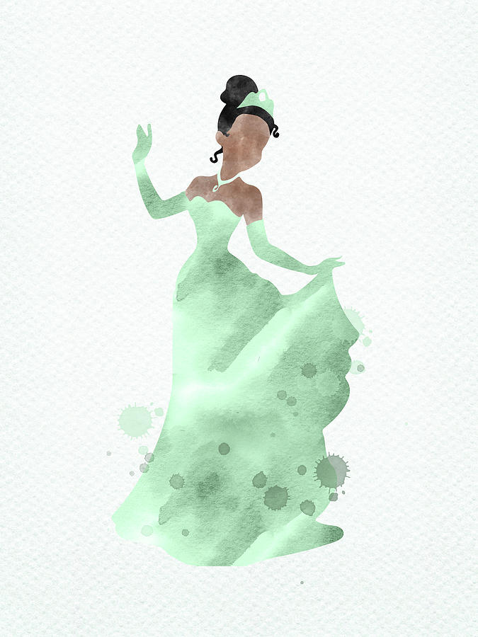 Disney Princess Tiana Watercolor Digital Art By Mihaela Pater