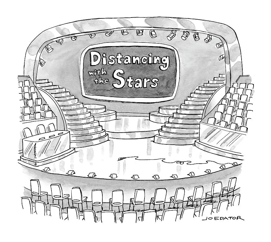 Distancing With The Stars Drawing by Joe Dator