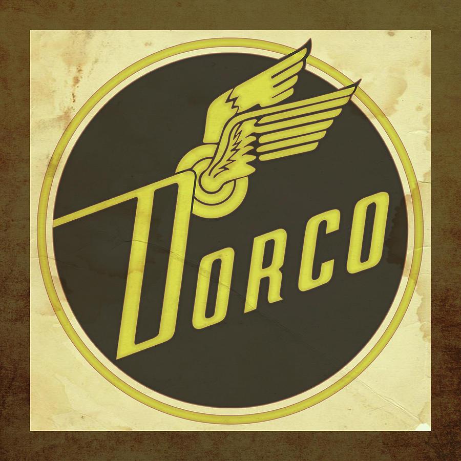 Signs Digital Art - Distressed Dorco Logo by Greg Joens