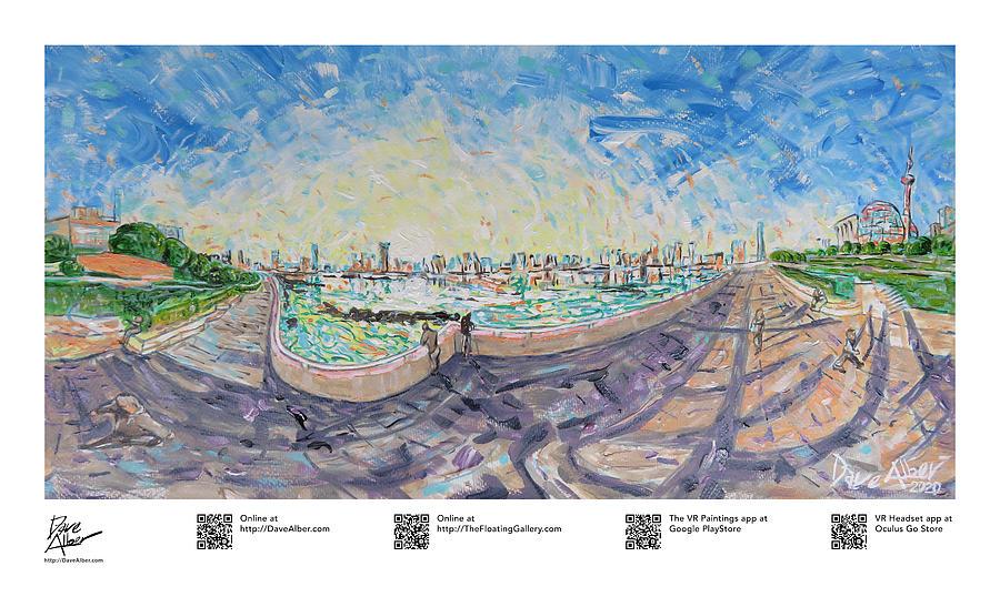 Shanghai Bund Painting - Diurnal Heartbeat, Shanghai, 06 by Dave Alber