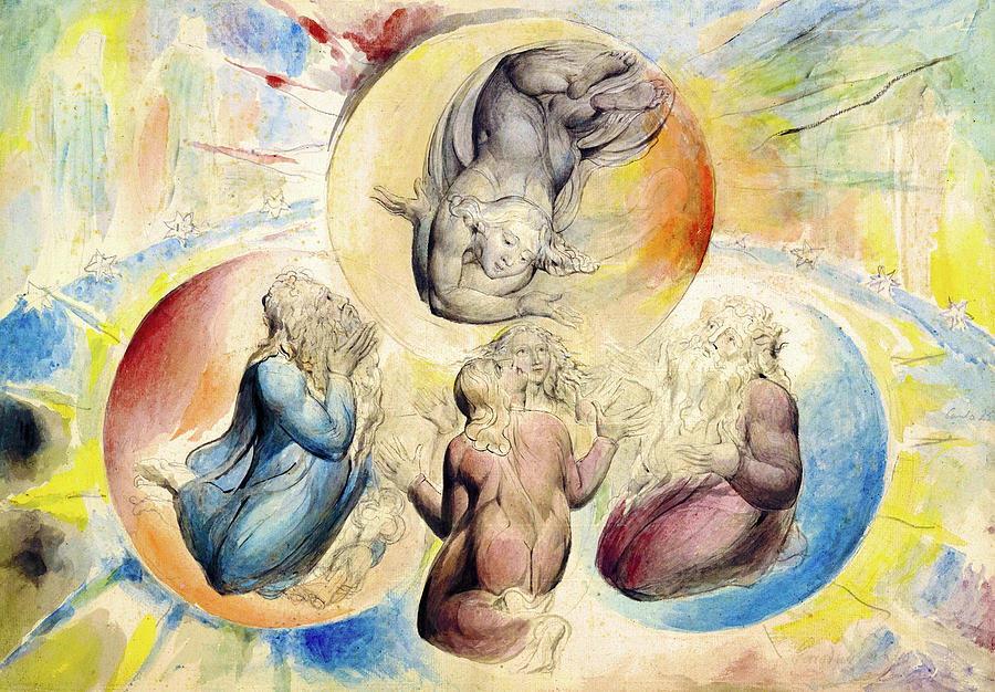 Divine Comedy Paradiso Painting By William Blake