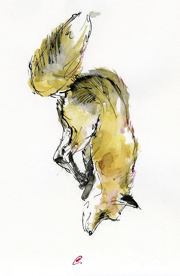 Diving fox by Angel Ciesniarska