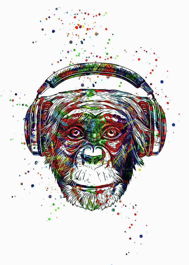 Dj Monkey Digital Art