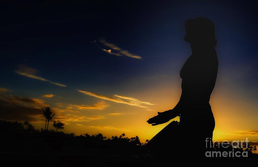 Djembe Into Sunset Photograph