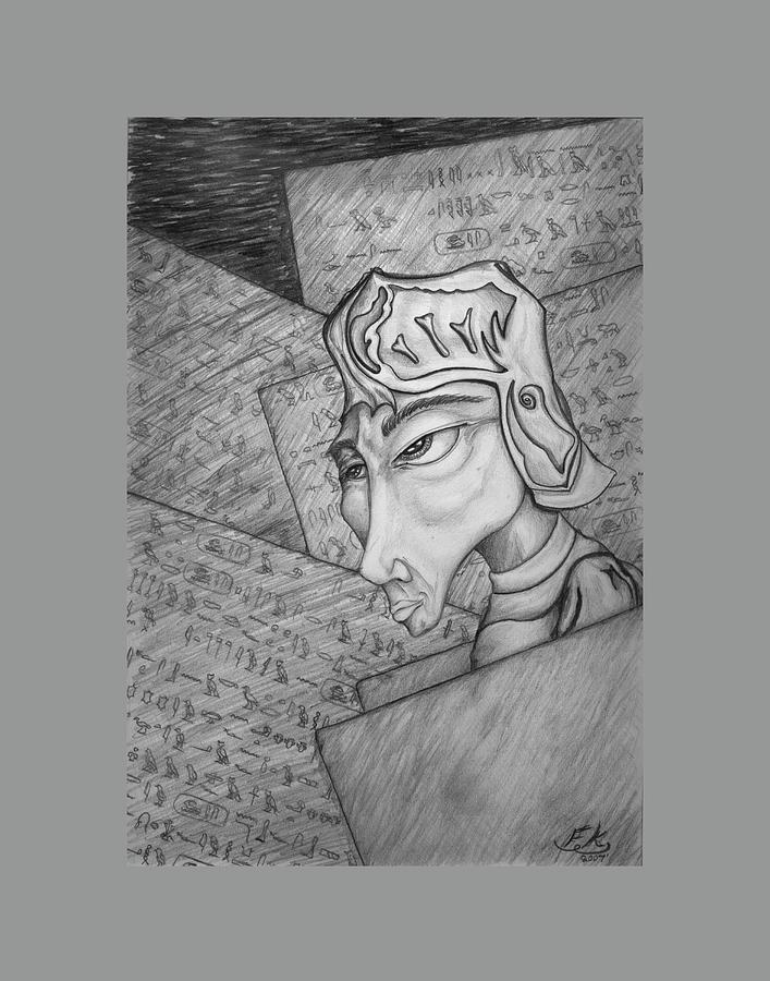 Pencil Drawing - Doctrine of Eternal Life by Franklin Kielar