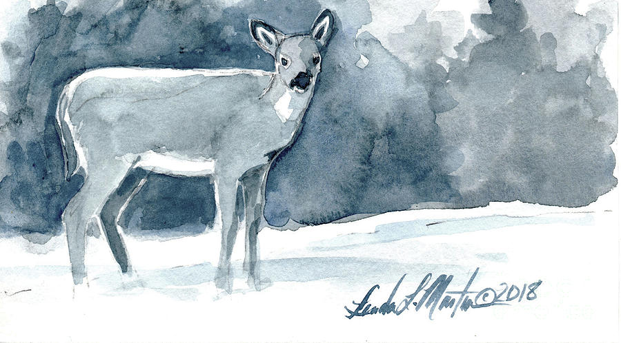 Doe in the Snow by Linda L Martin