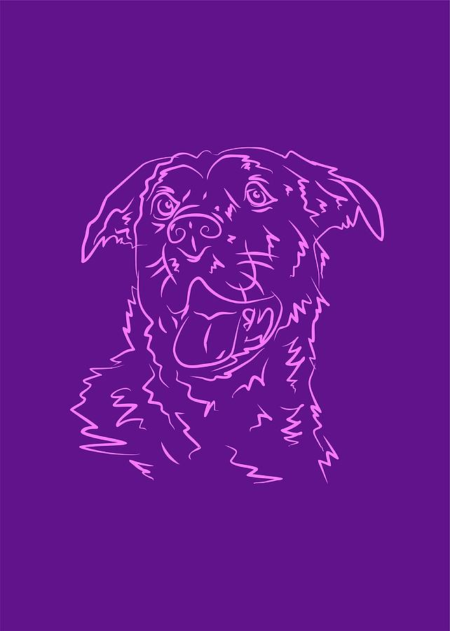 Dog 10b Purple Digital Art