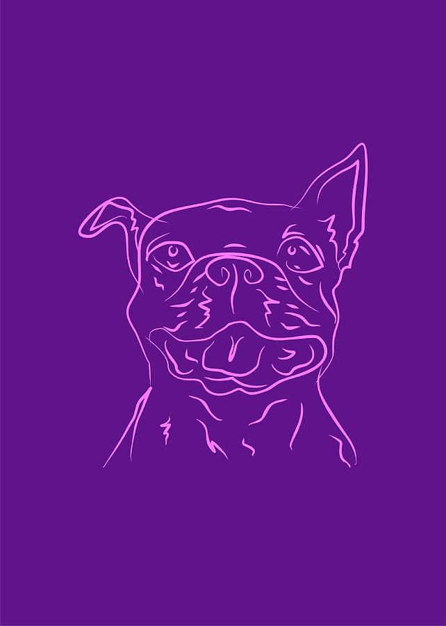 Dog 4b Purple Digital Art