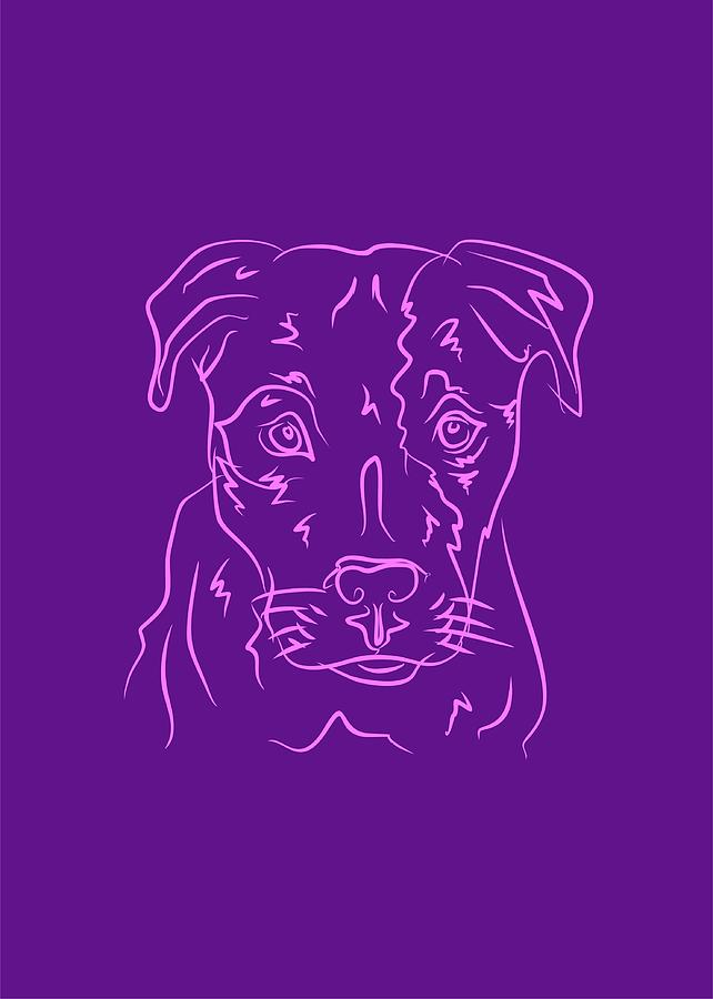 Dog 6b Purple Digital Art