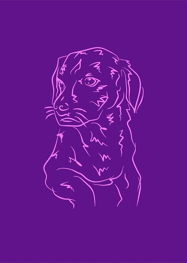 Dog 8b Purple Digital Art