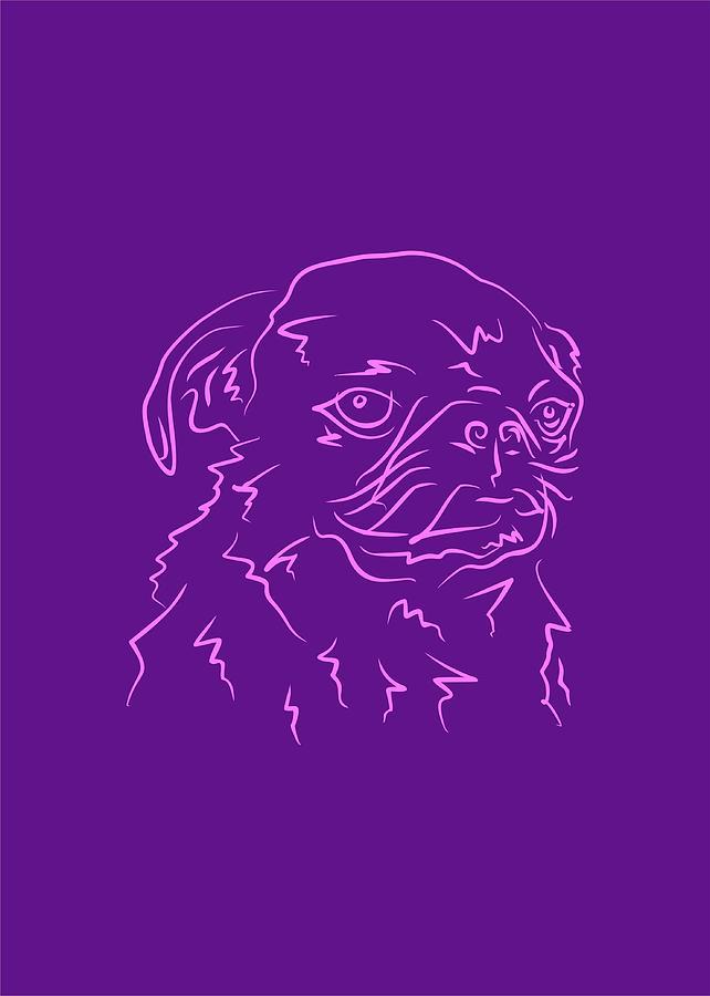 Dog 9b Purple Digital Art